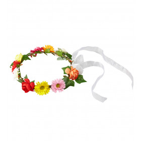 Flower Girl Bloemenkroon Met Lint