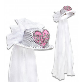 Say Yes Hoge Hoed Pailletten Bride To Be Met Hartje