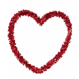 Valentijn Decoratie Stevig Tinsel Hart, Valtentijnsdag