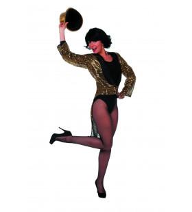 Gouden Directrice Paillettenfrack Vrouw Kostuum