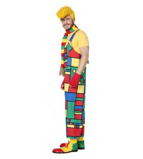 Carnaval Boogiewoogie Latzhose Mondriaan Man Kostuum