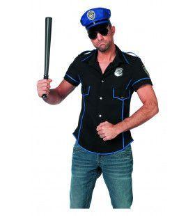 Zwarte Sexy Politieman ( Shirt) Kostuum