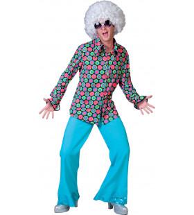 Disco Dot Hemd Man Kostuum