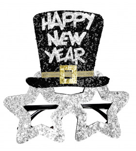 Spetterende Bril, Happy New Year Zilver