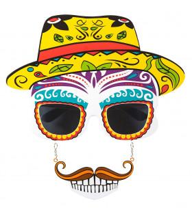Colores Bril, Dia De Los Muertos Met Snor