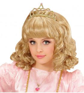 Schoonheidskoningin Pruik, Prinses Blond Met Kroon Kind