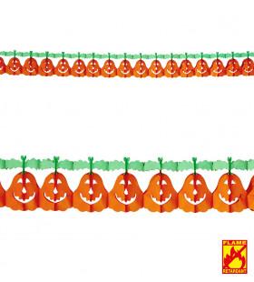 Vrolijke Halloween Slinger Pompoen 4mtr